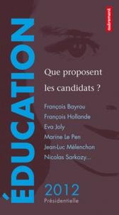 David d' Equainville - Education - Que proposent les candidats ?.