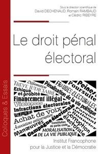 David Dechenaud et Romain Rambaud - Le droit pénal électoral.