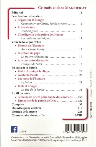 Magnificat Petit format N° 338, janvier 2021