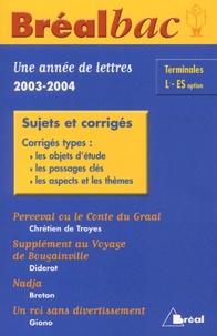 David Galand et Camille Delas - Une année de français Bac Tle L/ES - Sujets et corrigés.