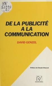 David Genzel - De la publicité à la communication.