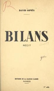 David Gomès - Bilans.