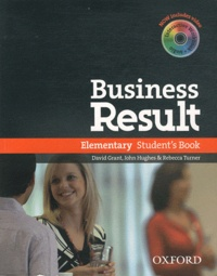 David Grant et John Hughes - Business Result - Elementary Student's Book. 1 CD audio