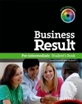 David Grant et Jane Hudson - Business Result - Pre-intermediate Student's Book. 1 Cédérom