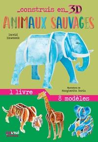 David Hawcock et Margherita Borin - Animaux sauvages - Avec 1 livre et 8 modèles.
