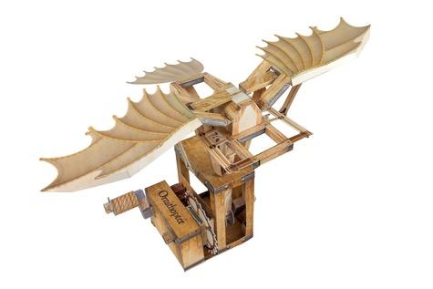 Construis la machine volante de Léonard de Vinci. Avec plus de 20 fiches de montage  Edition collector