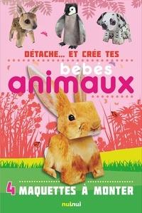 David Hawcock - Détache... et crée tes bébés animaux - 4 maquettes à monter.