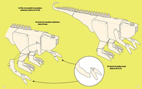 Méga Dino T.Rex. Construis un dinosaure géant en 3D sans colle, 110 cm de long