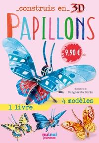 David Hawcock et Margherita Borin - Papillons - Avec 1 livre et 8 modèles.
