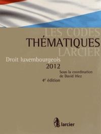 David Hiez - Droit luxembourgeois 2012.