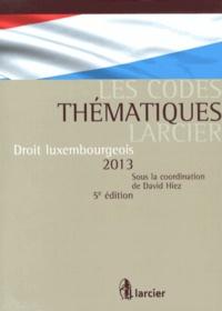David Hiez - Droit luxembourgeois 2013.