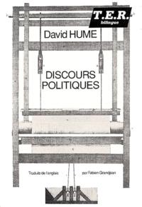 David Hume - Discours politiques précédé de Ma vie et suivi de De l'écriture par essais.