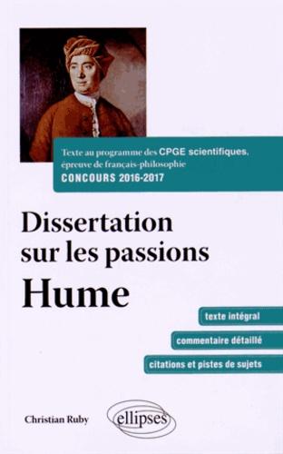 David hume dissertation passions