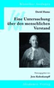 David Hume: Eine Untersuchung über den menschlichen Verstand.