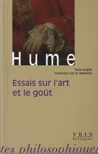 David Hume - Essais sur l'art et le goût - Edition bilingue français-anglais.