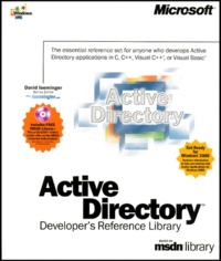 Active directory coffret Developer's Reference Library based on msdn library 5 volums : Volume 1, Programmer's guide. Volume 2, Reference. Volume 3, Service Interfaces programmer's guide. Volume 4, Service Interfaces reference. Volume 5 , Schema - David Iseminger pdf epub