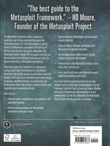 Metasploit. The Penetration Tester's Guide