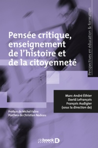 David Lefrançois - Pensée critique enseignement de l'histoire et de la citoyenneté.