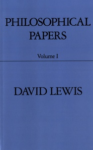 David Lewis - Philosophical Papers - Volume 1.