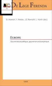 David Marrani et Teresa Freixes - Europe - Gouvernance politique, gouvernance économique.