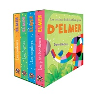 David McKee - La mini-bibliothèque d'Elmer - Coffret en 4 volumes : Les couleurs ; Les formes ; Les nombres ; Le p'tits bonheurs.