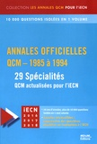 David Perrot - Annales officielles QCM - 1985 à 1994 - 29 spécialités.