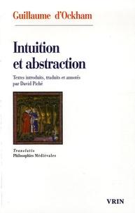 David Piché et  Guillaume d'Ockham - Intuition et abstraction.