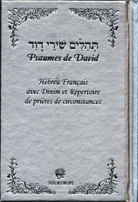 David - Psaumes de David Hébreu Français - argent TEHILIM.