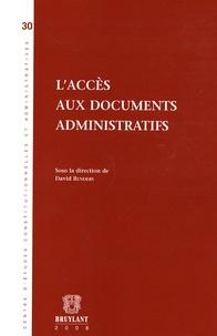 David Renders et Thierry Afschrift - L'accès aux documents administratifs.