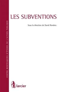 David Renders - Les subventions.