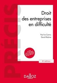 David Robine et Paul Le Cannu - Droit des entreprises en difficulté.