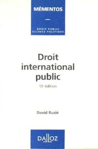 David Ruzié - Droit international public.