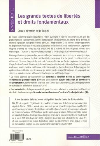 Grands textes de libertés et droits fondamentaux  Edition 2020
