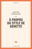 David Turgeon - A propos du style de Genette.