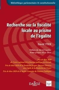 David Ytier - Recherche sur la fiscalité locale au prisme de l'égalité.