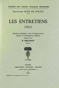 De balzac jean-louis Guez - Les Entretiens - I.