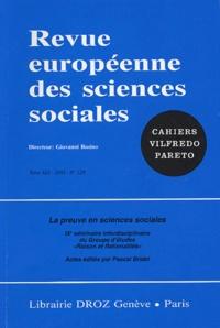 Giovanni Busino - Revue européenne des sciences sociales N° 128, Décembre 200 : La preuve en sciences sociales.