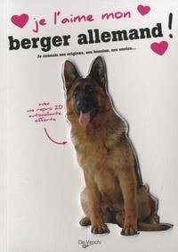 Histoiresdenlire.be Je l'aime mon berger allemand - Avec une repro 2D autocollante Image