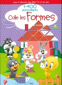 De Vecchi Jeunesse - Colle les formes - Joue et découvre avec Bébé Titi et ses amis, plus de 400 autocollants.