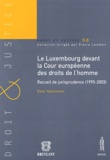 Dean Spielmann - Le Luxembourg devant la Cour européenne des droits de l'homme - Recueil de jurisprudence (1995-2003).