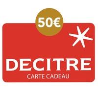 DECITRE - PAPETERIE - Carte cadeau Decitre - 50€