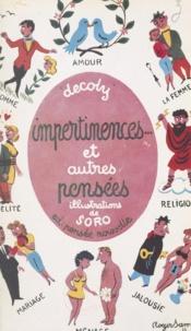 Decoly et  Soro - Impertinences et autres pensées.