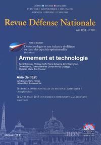 Jean Dufourcq - Revue Défense Nationale N° 761, Juin 2013 : Armement et technologie.