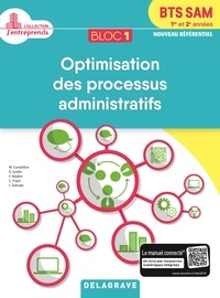 Delagrave - Bloc 1 - Optimisation des processus administratifs BTS SAM 1re & 2e  année - Pochette élève.