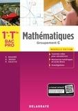 Delagrave - Mathématiques 1re, Tle Bac Pro groupement C - Pochette élève.