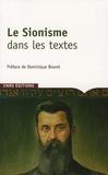 Delphine Bénichou - Le Sionisme dans les textes.