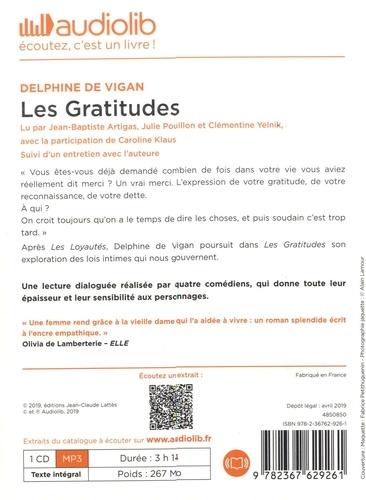 Les gratitudes  avec 1 CD audio MP3