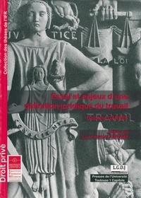 Delphine Gardes - Essai et enjeux d'une définition juridique du travail.