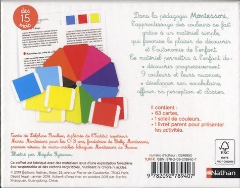 Les couleurs. Contient : 63 cartes, 1 soleil de couleurs, 1 livret parent