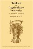 Demonet - Tableau de l'agriculture française au milieu du 19ème siècle.